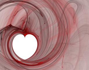 Coeur blanc décalé