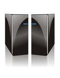 cool two side black computer server poster