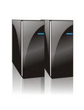 cool two black computer server poster