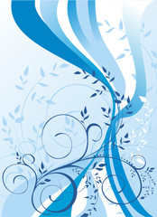 blue background - vector