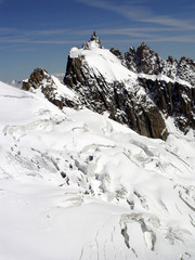 Aiguille du Midi seen from the Mont Blanc