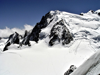 the way to the summit of the Mont Blanc