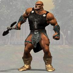 Ogre #01, fantasy series, with clipping path