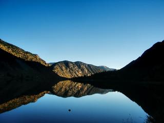 Colorado lake against mountains