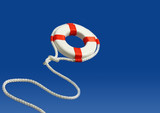 Flying life preserver for help poster
