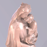 Statue of christian statue of madonna with child