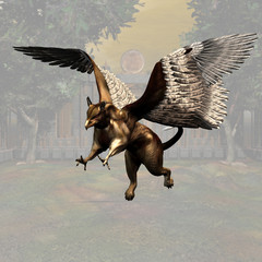 Griffin #03, fantasy series, with clipping path