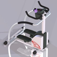 Fitness machine.Image contains a Clipping Path