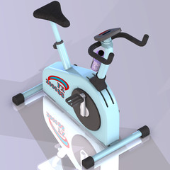 A fitness bike to strengthen your health.with Clipping Path