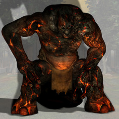 Troll #04, fantasy series, with clipping path