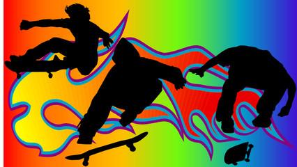 Hintergrund mit Skateboarder-Vector