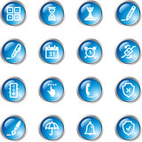 blue drop software icons poster