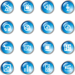blue drop media icons