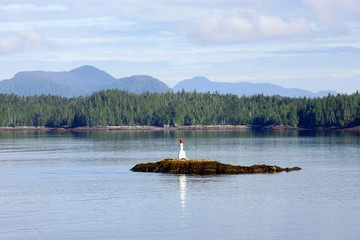 Lighthouse in Alaskan Inland Passage, Alaska