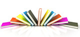 colored books isolated on glossy white #5 poster