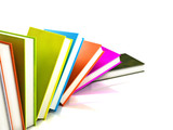 colored books isolated on glossy white #4 poster