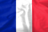Silk effect French Tricolore flag poster