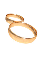 wedding gold rings isolated on white #3