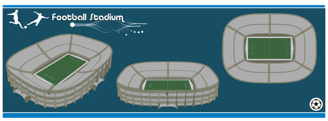 estadio de futbol en vector