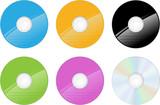CD et DVD vectoriels, facilement modifiable poster