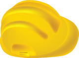 Yellow Safety Hard Hat isolated on white background poster