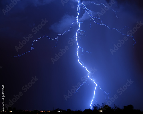 Lightning over the city - Tucson, AZ