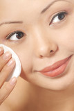 Woman and skin cleaner poster