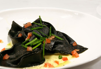 Black Squid Ink Ravioli
