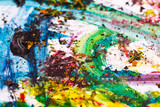 Colorful paint strokes - Vibrant colors poster