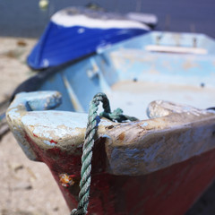 Closeup of small fishing boat