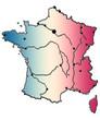 carte de France, Corse, fleuves, villes,bleu blanc rouge
