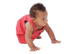 Adorable baby crawling poster