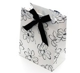 Black and white gift bag
