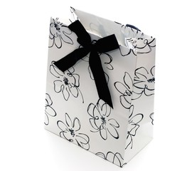 Black and white gift bag