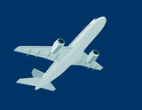 Airplane overhead poster