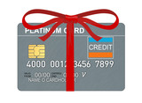 Platinum card with ribbon poster