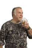 older man drinking scotch poster