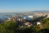 View of Malaga, Spain with Plaza de Toros in foreground poster