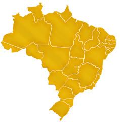 Carte Brésil Or  - Brasil Map