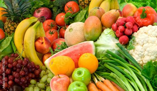 Vegetables and Fruits Arrangement