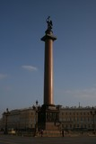 Alexandersäule Schlossplatz St. Petersburg Russland  poster