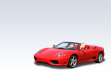 Red Italian convertible sports car on a gradient background poster