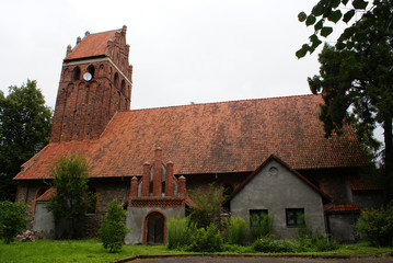Brick catholic church