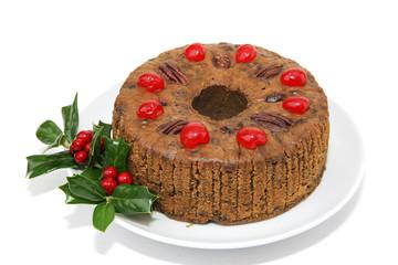 Whole Fruitcake Isolated