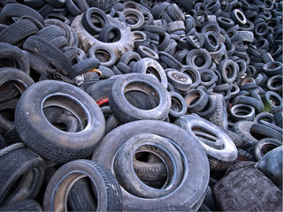 Landfill of tires