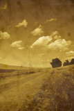 Gravel Road and Clouds poster