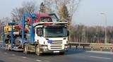 car carrier truck deliver batch of