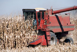 Combine and Corn poster