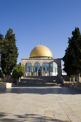 View up to Dome of the Rock