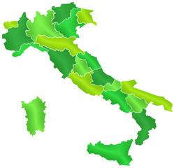 Carte Italie Camaieu Vert